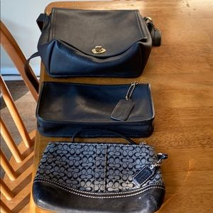 Coach Leather 1 purse and two small
